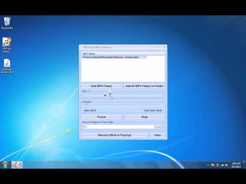How To Use MP3 Key Shifter Software