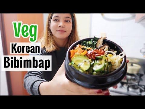 Making Korean food Veg Bibimbap at home��