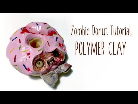 Zombie Donut Tutorial / Polymer Clay