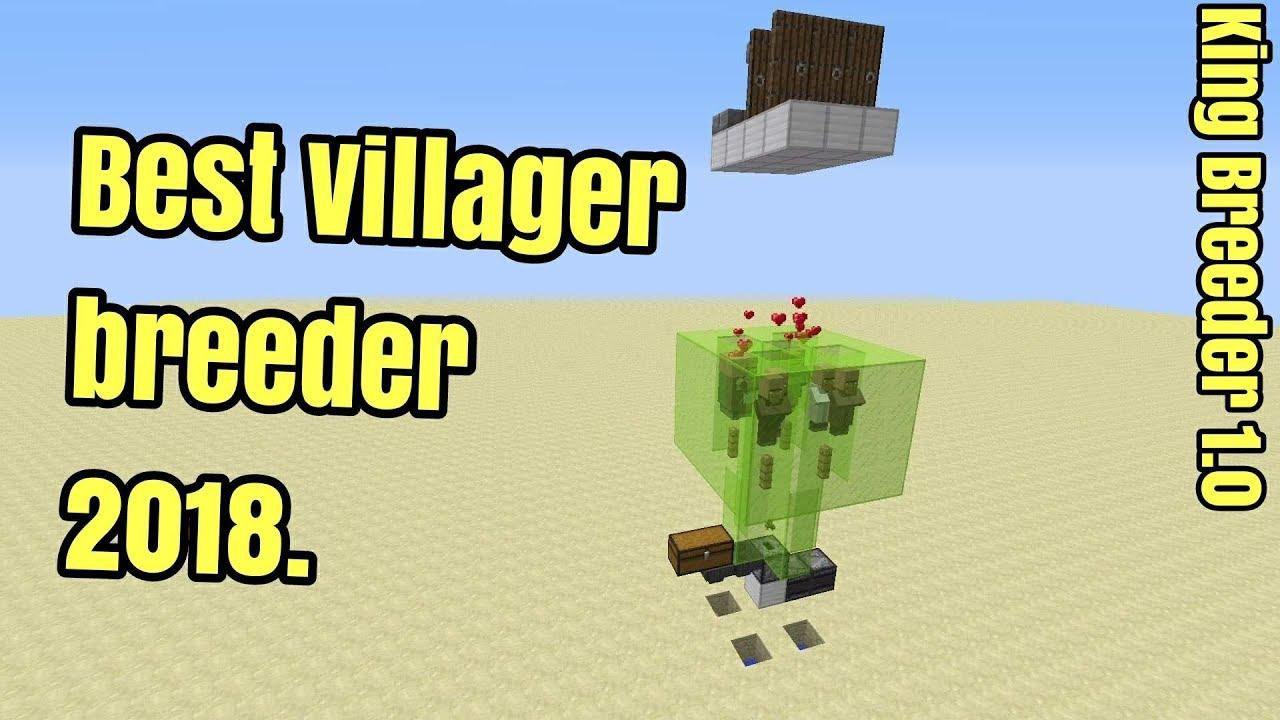 Minecraft 1 12 2 Best Villager breeder Tutorial 2018 - Cheap and EASY (King  Breeder 1 0)