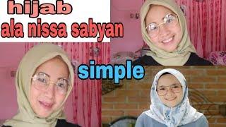 Tutorial hijab simple 3 in 1 ala nissa sabyan.segi empat