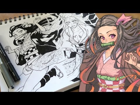 Must Protect Nezuko! + Creepy/Scary game suggestions? - Draw With Mikey 128