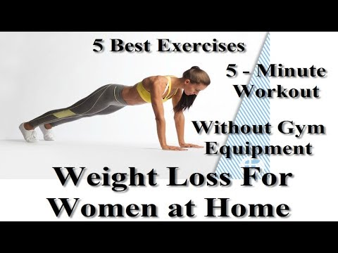 5 Best Exercises to Lose Weight For Women at Home