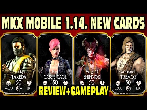 MKX Mobile 1.14 Update. ALL NEW CHARACTERS GAMEPLAY + Review! Tremor, Takeda, Cassie Cage, Shinnok.