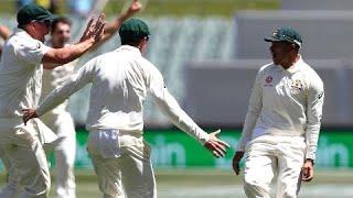Usman Khawaja classic catch to dismiss Virat Kohli