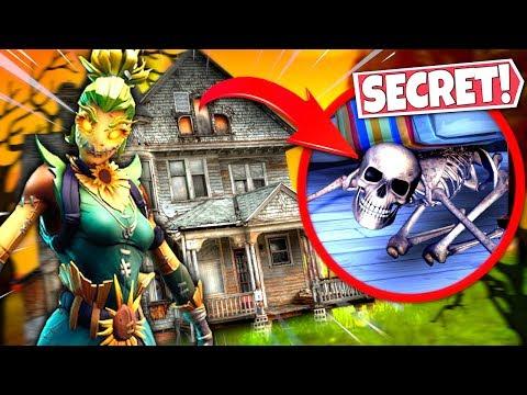 NEW HAUNTED HOUSE FORTNITE HIDDEN *SECRETS* ALL FOUND! SEASON 6 HALLOWEEN UPDATE!: BR