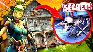 NEW HAUNTED HOUSE FORTNITE HIDDEN *SECRETS* ALL FOUND! SEASON 6 HALLOWEEN UPDATE!: BR