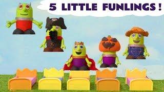 Смішні Funlings 5 маленьких мавпочок стрибають на ліжку Історія іграшок