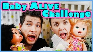 👶BABY ALIVE CHALLENGE👶PUT YOUR BABY TO SLEEP!! | SMELLY BELLY TV