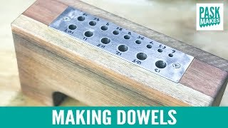 Making Dowels with a Homemade Dowel Plate