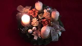 Virtual German Advent Wreath, Adventskranz, 1. Advent