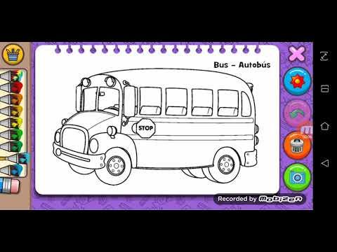 Otobus Boyama Otobusun Tekerligi Yuvarlak Ingilizce Sarkisi