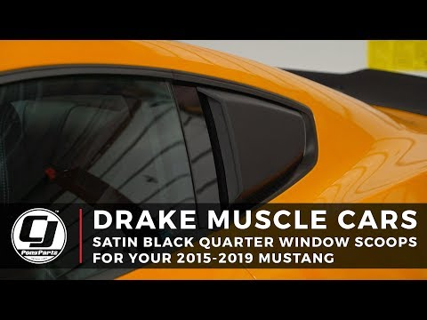 2015-2019 Ford Mustang Install: Drake Muscle Cars Quarter Window Scoops