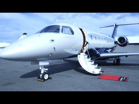Step inside the new $20 million Embraer Legacy 500 jet
