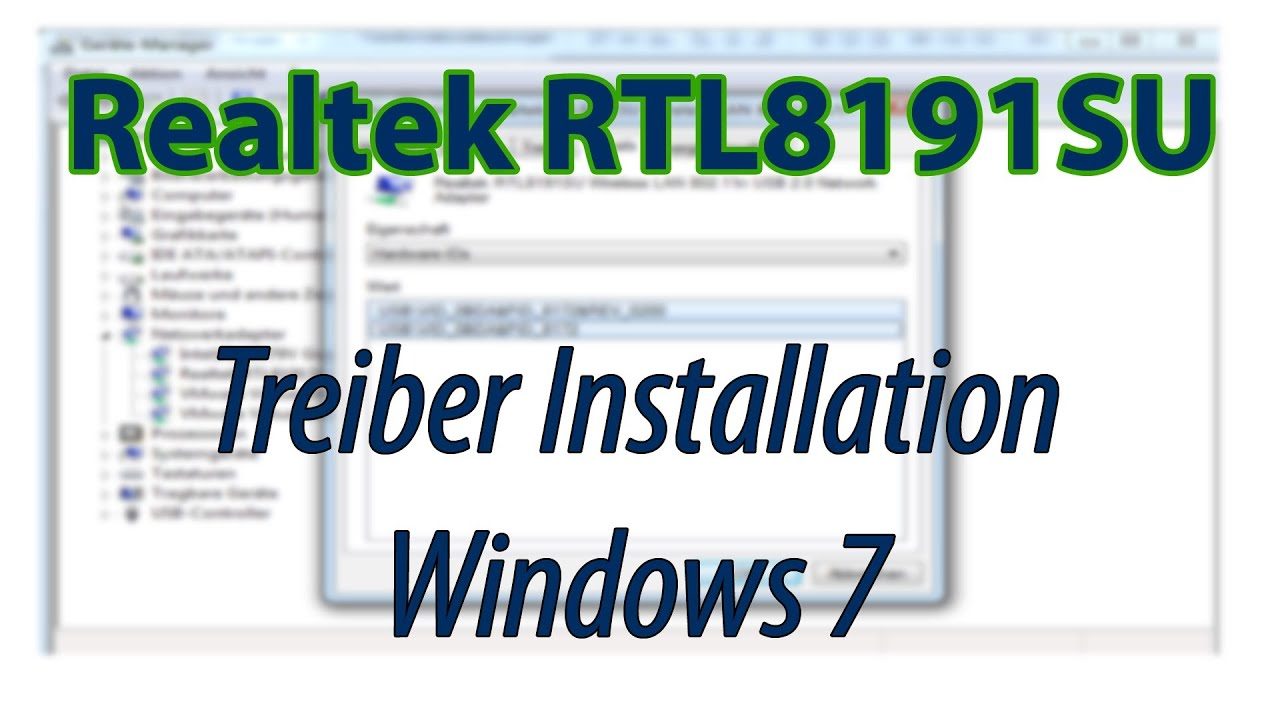rtl8191s wlan adapter driver windows 7