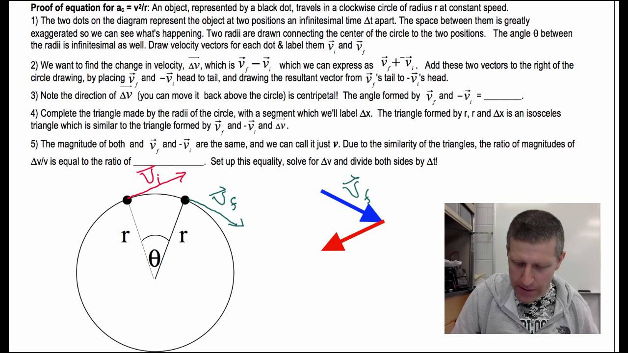 Centripetal acceleration - derivation of the formula and practical application 39
