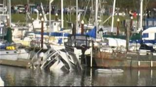 Tsunami causes West Coast Damage, Brookings Oregon 3/11/2011