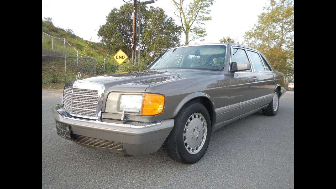 1986 mercedes benz 560sel w126 sedan interior walkaround for Mercedes benz concord