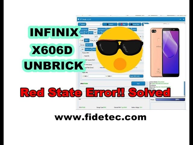 Infinix X606D Red State Solved 100%