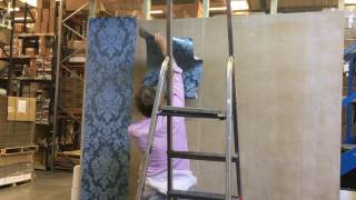 Cole & Son Wallpaper hanging demo with Collin Edwards