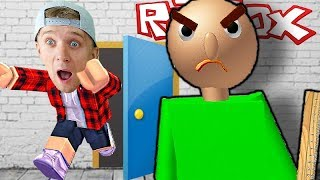 who is an angry TEACHER BALDI? Escape from school FFGTV in ROBLOX from teacher Baldi and friends of Milan and Pope