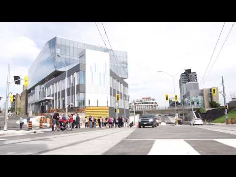 King and Victoria grade separation opening