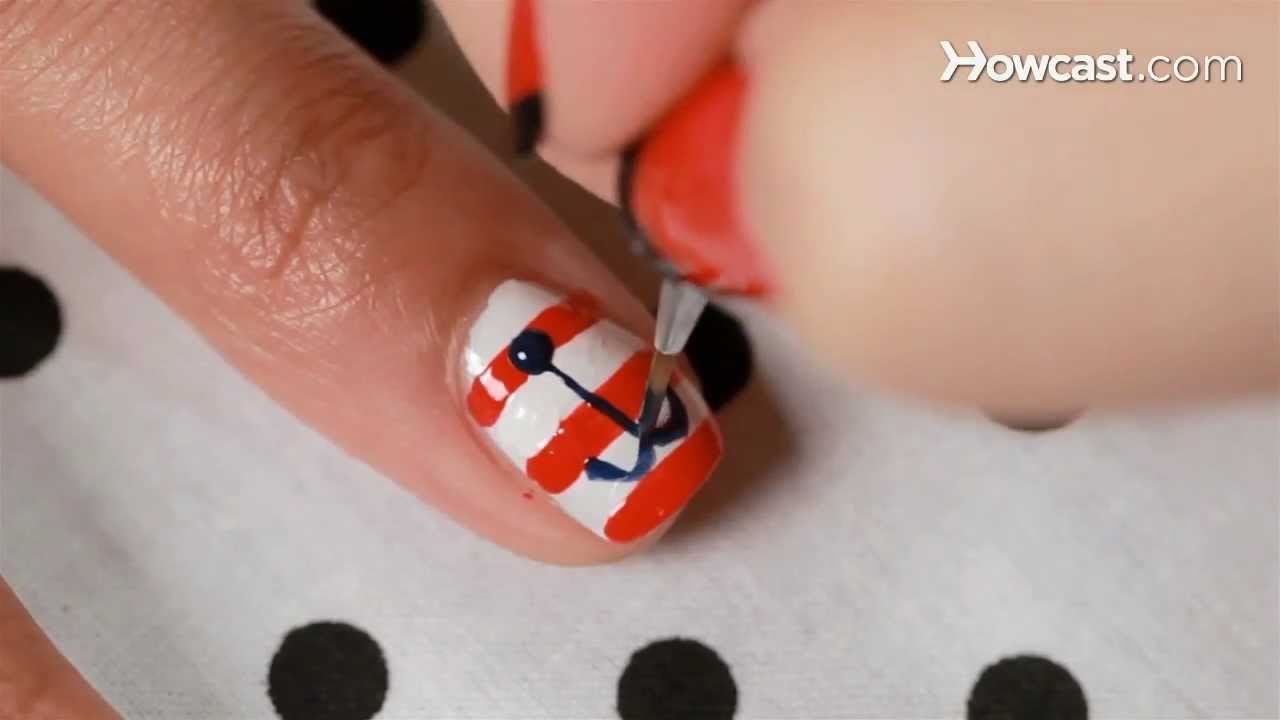 How to create an anchor design nail art youtube how to create an anchor design nail art prinsesfo Gallery