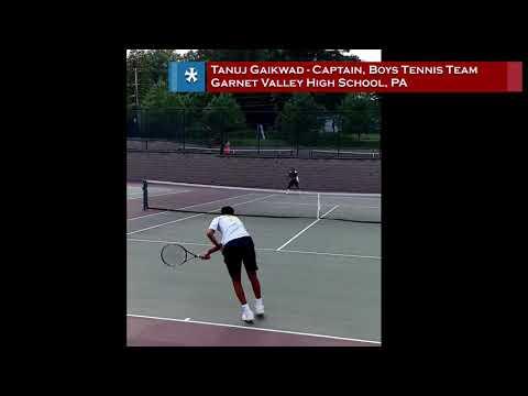 20190623   Tanuj Tennis GVHS Tennis Team Captain