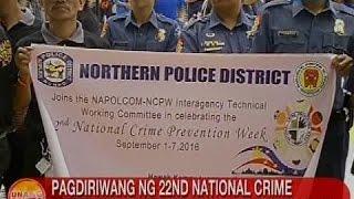 UB: Pagdiriwang ng 22nd National Crime Prevention Week, sisimulan ngayong araw