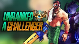 Unranked a Challenger (Platino 5 // 100% winrate) duo c/ Dandy