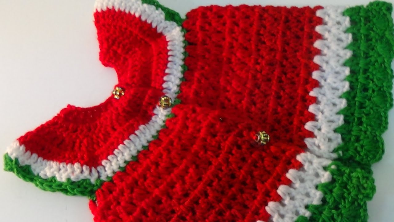 Crochet christmas special Baby Dress 3