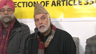 Civil society press conference on article 35A