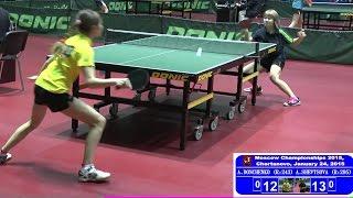 Анастасия ДОНЧЕНКО - Алёна ШЕВЦОВА Настольный теннис, Table Tennis