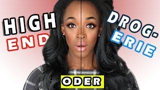 HIGH-END VS DROGERIE I Make Up Test! I Ashley Forsson