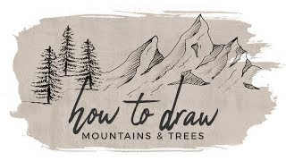How to Draw Mountains and Trees | Doodle with me!