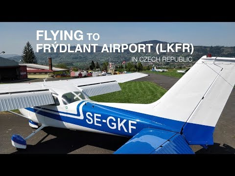 Flying to Frýdlant airport (LKFR) | Cessna 172 | SE-GKF