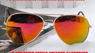 Oculos aviador Ray Ban Unboxing AliExpress