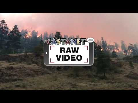 Raw: Driving past Mount Eneas wildfire