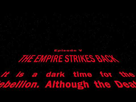 Star Wars opening crawl After Effects template