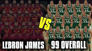 15 Lebron James Vs 15 99 Overall Players! NBA 2K18 Challenge!