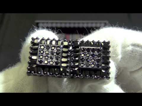 Baguette Custom Box XL CZ Hip Hop Iced Out Earrings BLING