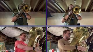 Earth Angel - The Penguins for trombone and tuba quartet (arr. Brett Copeland)