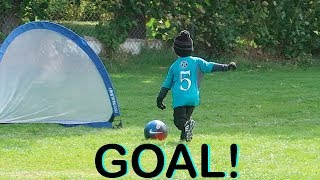 ⚽️LITTLE BOY SCORES HIS FIRST SOCCER GOAL EVER!⚽️