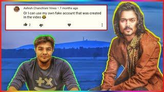 Popüler youtubers sahte Yorumlar - Ashish Chanchlani, Bb ki vines, Amit Bhadana vb