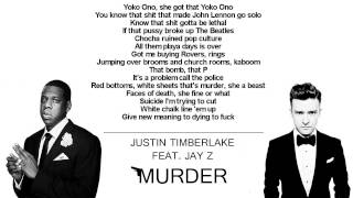 Watch Justin Timberlake Murder Ft Jayz video