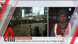Hong Kong police make multiple arrests in second straight day of illegal protests
