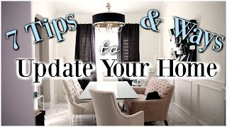7 Tips For Updating Your Home - MissLizHeart