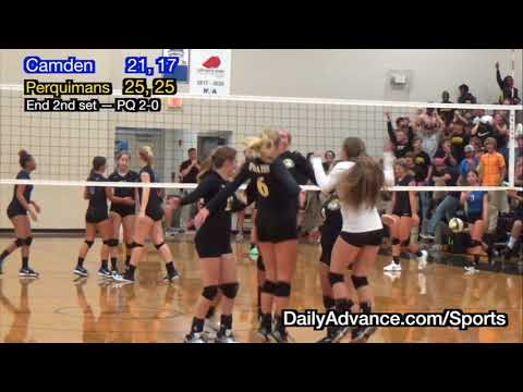 The Daily Advance | 2017 High School Volleyball | Camden at Peruqimans