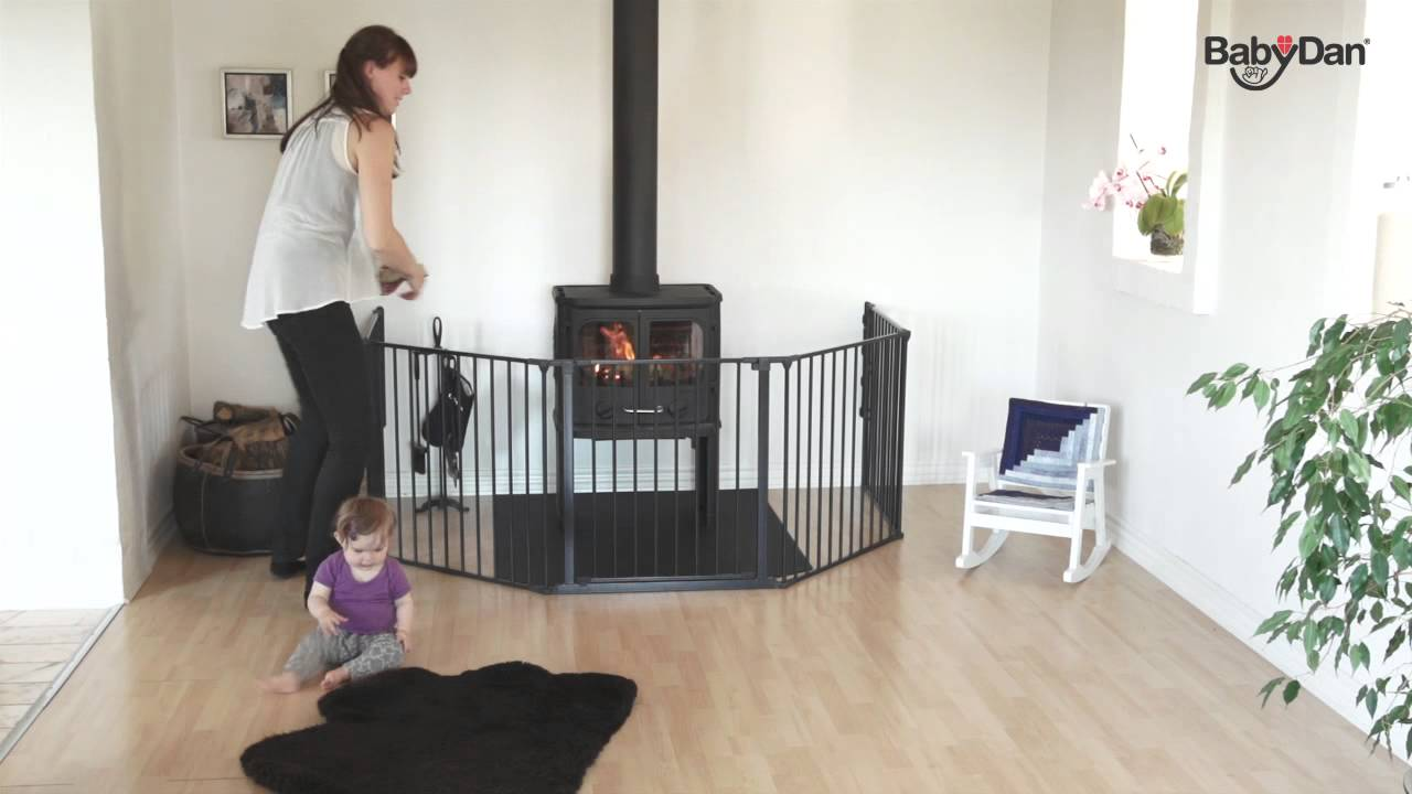 Baby Dan FlexConfigure XL hearth gate YouTube