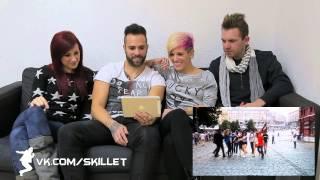 """Группа Skillet смотрит русский кавер на песню """"American Noise"""""""